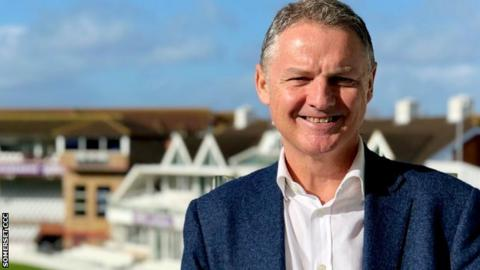 Gordon Hollins' previous role as England and Wales Cricket Board managing director will be taken up by Warwickshire's Neil Snowball