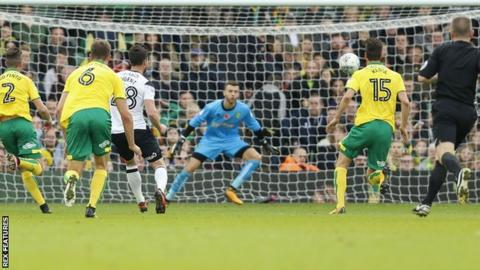 David Nugent scores against Norwich