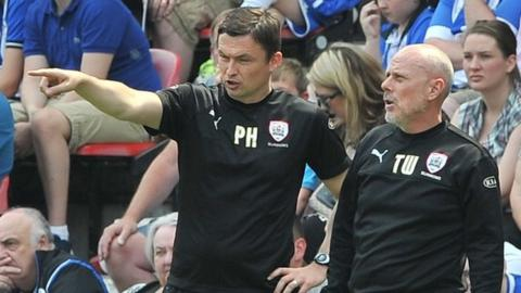Barnsley assistant boss Tommy Wright (right) and manager Paul Heckingbottom