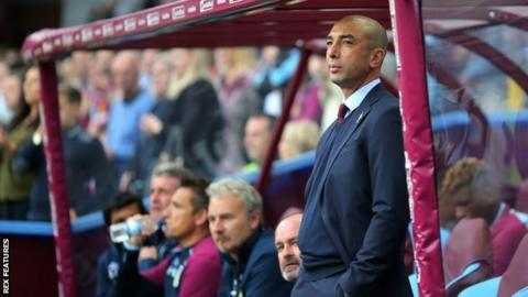 Roberto di Matteo was appointed by new Chinese owners Tony Xia as Villa manager in June