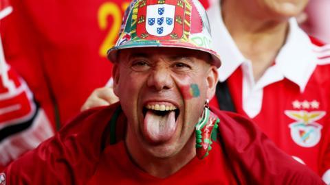 Portugal fan celebrates