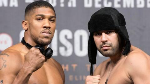 Anthony Joshua and Eric Molina