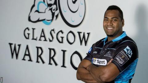 Taqele Naiyaravoro has now trained with his new Glasgow Warriors team-mates