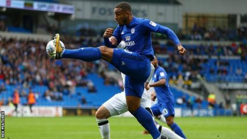 Cardiff striker Kenneth Zohore