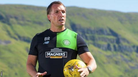 Celtic manager Brendan Rodgers at the club's training centre at Lennoxtown