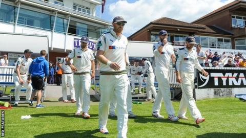 Andrew Gale's Yorkshire took to the field at Taunton as County Championship leaders