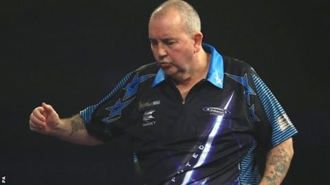Phil Taylor shows his frustration against Jess Klaasen