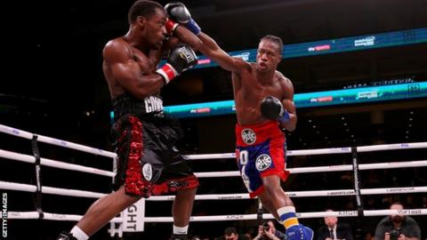 Patrick Day throws a punch during his bout with Charles Conwell