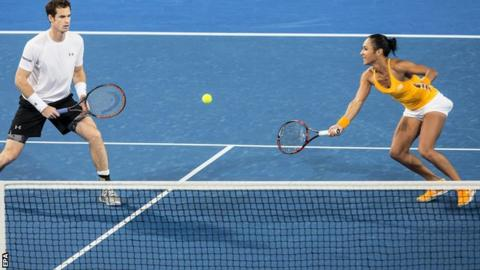 Andy Murray (left) with Heather Watson