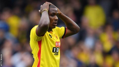 Nigeria and Watford striker Odion Ighalo