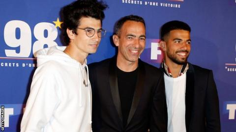 Oan Djorkaeff, right, has followed his father, centre, into professional football