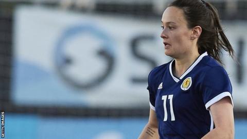 Abbi Grant in action for Scotland