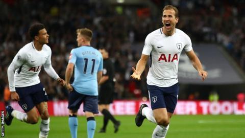 Harry Kane celebrates goal