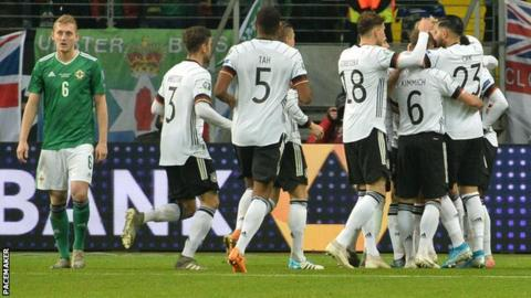 George Saville as Germany celebrate