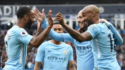 City get Premier League trophy, finally