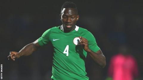 Nigeria defender Kenneth Omeruo