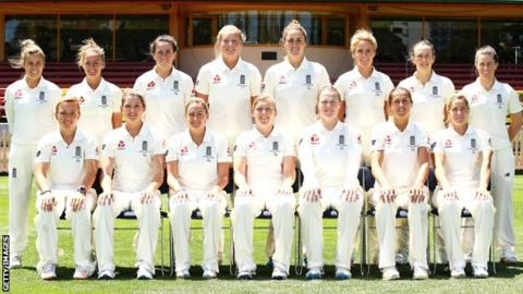 The England Women's Ashes Test squad from 2017-18