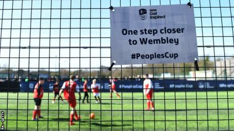 Glorious weather greeted the FA People's Cup semi-final weekend
