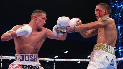 Lee Selby and Josh Warrington in the ring together