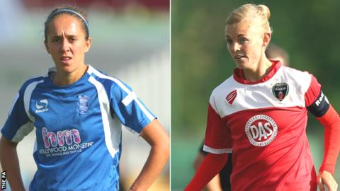 Birmingham City's Jo Potter (left) and Bristol Academy's Sophie Ingle