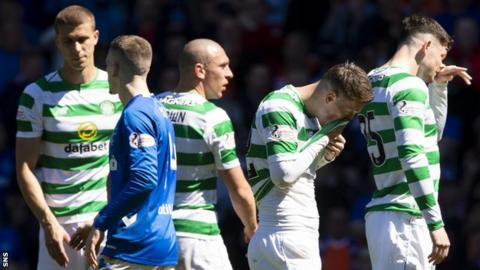 Celtic players are left disappointed