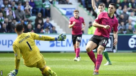 Tom Rogic playing for Celtic against Hibernian
