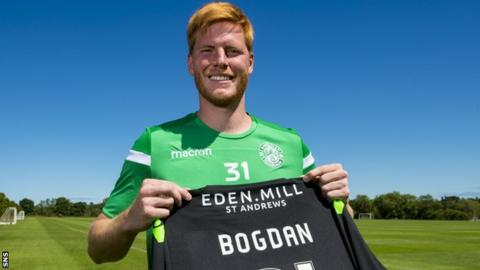 Hibernian goalkeeper Adam Bogdan