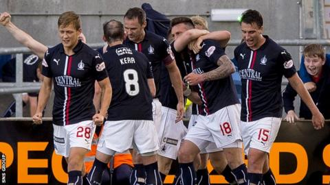 Falkirk overtake United after their dramatic late victory