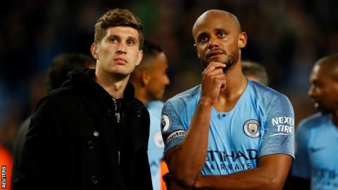 John Stones and Vincent Kompany