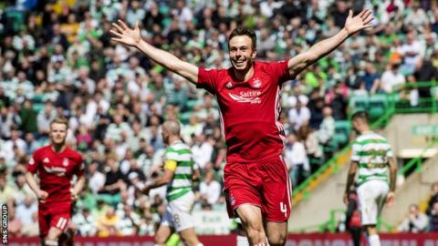 Andrew Considine scored when Aberdeen beat Celtic on the final day of last season