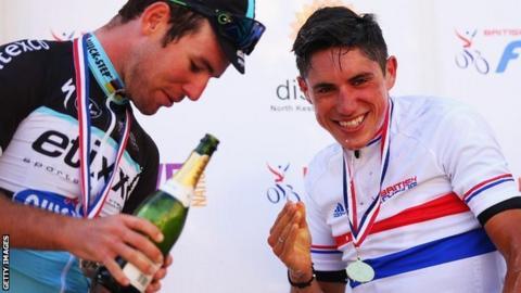 Mark Cavendish and Peter Kennaugh