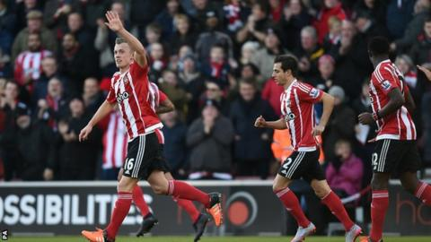 James Ward-Prowse celebrates