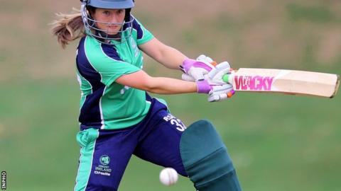Isobel Joyce scored 31 and picked up a wicket in Friday's heavy defeat by India