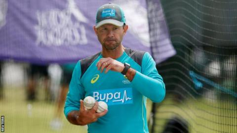 Australia coach Ricky Ponting carries balls at a training session