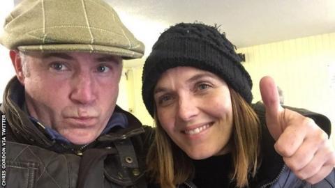 Chris Gordon and Victoria Pendleton