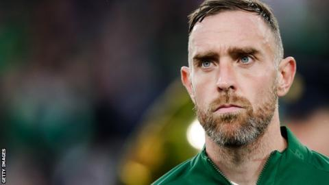 Northern Ireland Richard Keogh lined up for Republic of Ireland