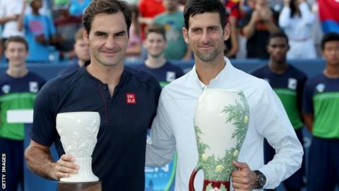 Novak Djokovic leads US Open final