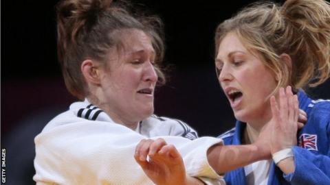 Natalie Powell (left) defeated rival Gemma Gibbons in the 2014 Commonwealth Games final in Glasgow