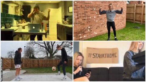Women's football players on social media