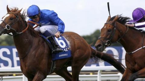 Hawkbill wins the Coral-Eclipse Stakes
