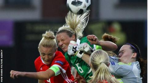 Sophie Ingle in action for Wales v Northern Ireland