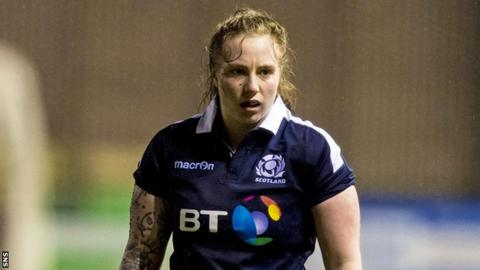 Jade Konkel in action for Scotland in the 2017 Women's Six Nations
