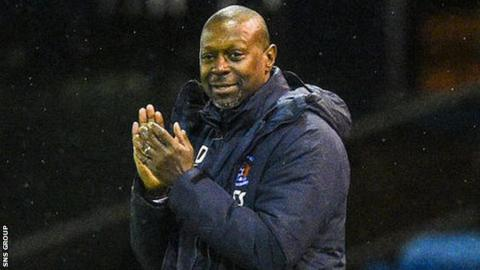 Kilmarnock manager Alex Dyer has a contract until the end of the season
