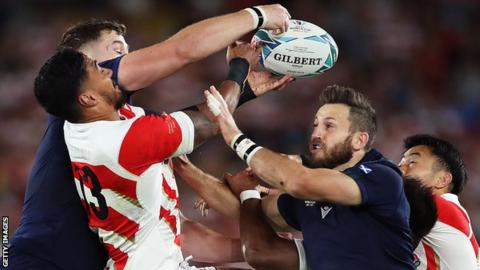 Tommy Seymour's last appearance for Scotland was the Rugby World Cup defeat by Japan