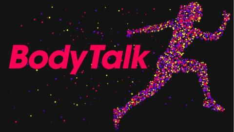 Body Talk logo with text and graphic of a woman running