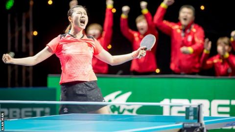China's women's table tennis team