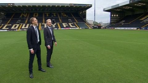 New Notts County owners Alexander Reedtz (left) and Christoffer Reedtz
