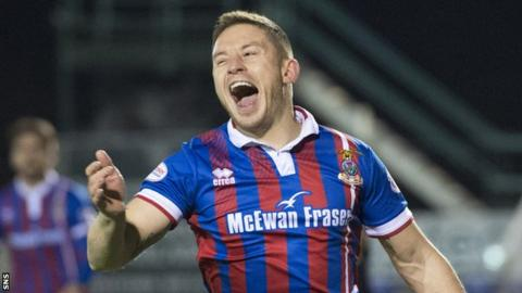 John Baird celebrates with Inverness Caledonian Thistle