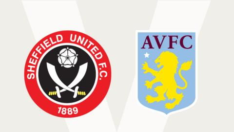 Sheffield United v Aston Villa badges