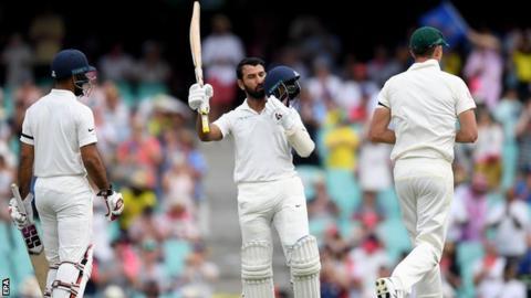 Australia V India Cheteshwar Pujara Scores Century As Tourists